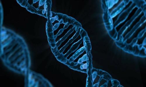 Illustration of a DNA string.